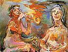 Morning and Afternoon The Power of Music II 1966 By Oskar Kokoschka