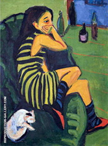 Marcella 1910 By Ernst Kirchner Replica Paintings on Canvas - Reproduction Gallery