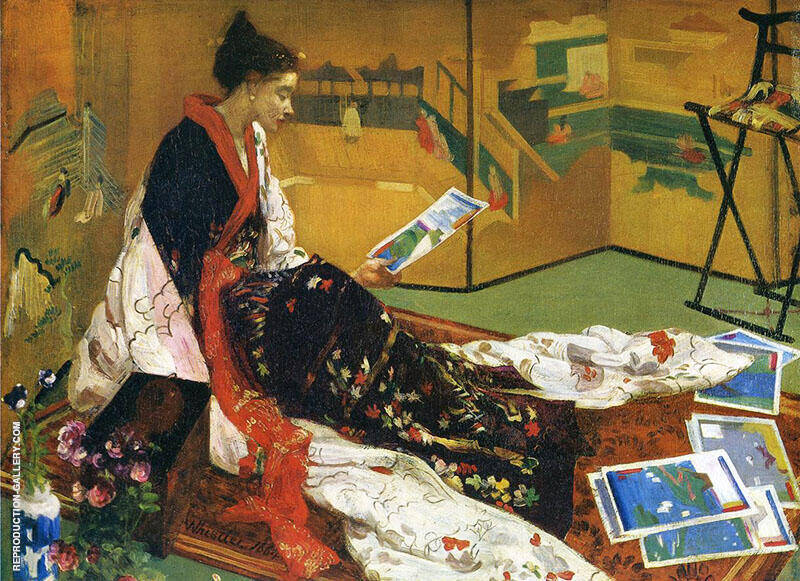 Caprice in Purple and Gold The Golden Screen 1864 By James McNeill Whistler