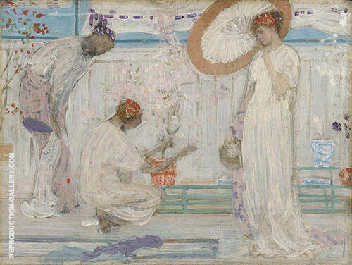 The White Symphony Three Girls 1868 By James McNeill Whistler Replica Paintings on Canvas - Reproduction Gallery