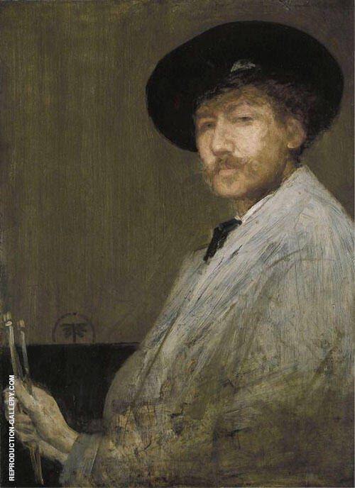 Reproduction of Arrangment in Gray Portrait of the Painter by James McNeill Whistler | Oil Painting Replica On CanvasReproduction Gallery