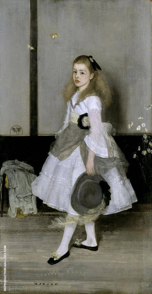 Harmony in Gray and Green Miss Cicely Alexander By James McNeill Whistler Replica Paintings on Canvas - Reproduction Gallery