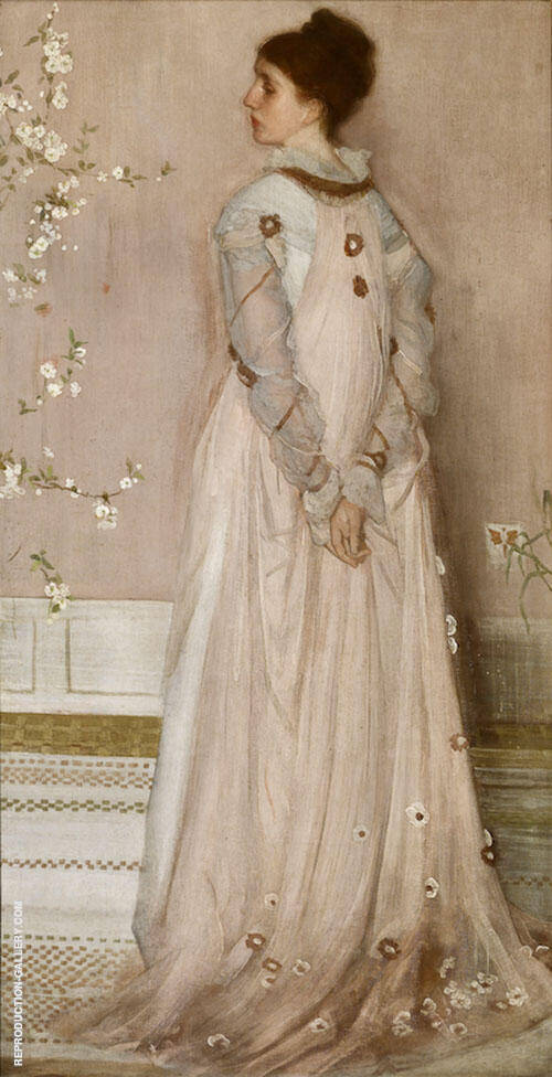 Symphony in Flesh Color and Pink Portrait of Mrs Frances Leyland 1873 By James McNeill Whistler Replica Paintings on Canvas - Reproduction Gallery