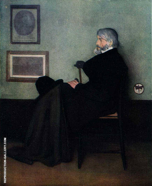 Arrangement in Gray and Black No 2 Portrait of Thomas Carlyle 1872 By James McNeill Whistler Replica Paintings on Canvas - Reproduction Gallery
