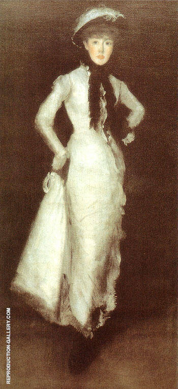 Arrangement in White and Black Portrait of Maud Franklin 1876 By James McNeill Whistler