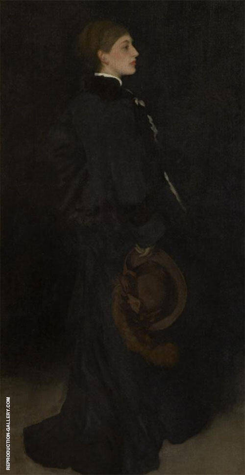 Arrangement in Brown and in Black Portrait of miss Rosa Corder 1875 Painting By ...