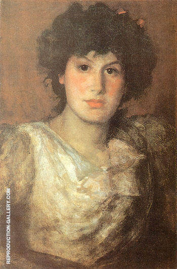 Portrait of Lilian Woakes 1890 By James McNeill Whistler