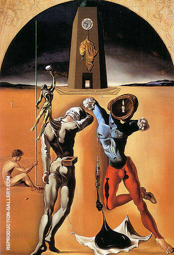 Reproduction of Poetry of America The Cosmic Athletes 1943 by Salvador Dali | Oil Painting Replica On CanvasReproduction Gallery