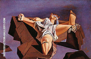 Figure Between the Rock 1926 By Salvador Dali