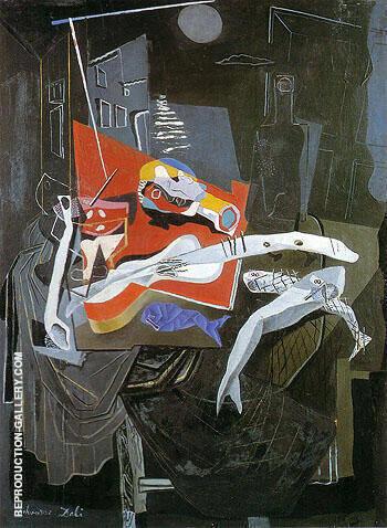 Still Life by Moonlight 1927 By Salvador Dali