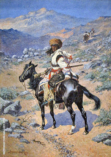 Indian Trapper Painting By Frederic Remington - Reproduction Gallery