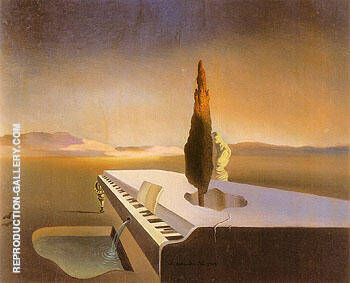 Necrophilic Spring Flowing from a Grand Piano 1933 Painting By ...