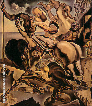 Family of Marsupial Centaurs 1940 By Salvador Dali