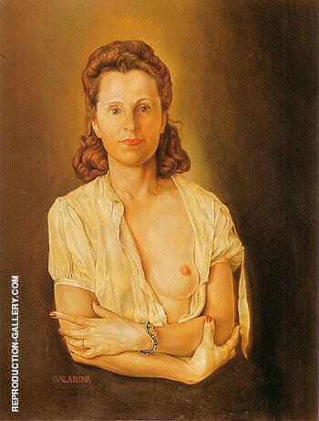 Galarina 1944 By Salvador Dali