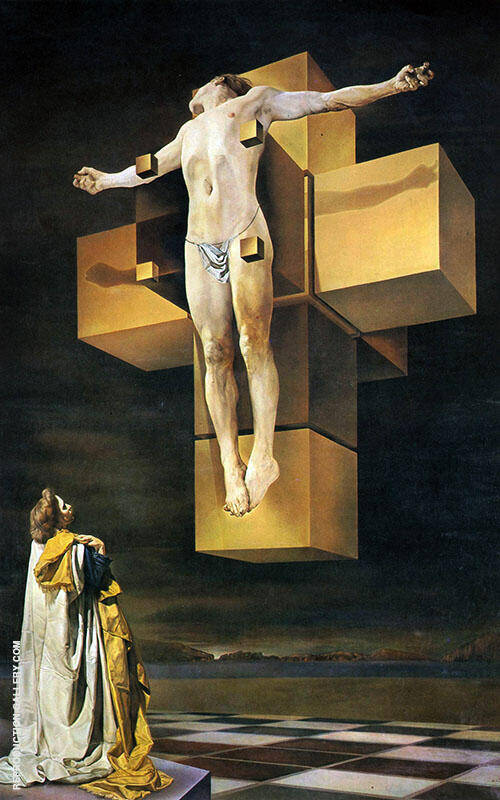 Crucifixion Corpus Hypercubus 1951 By Salvador Dali Replica Paintings on Canvas - Reproduction Gallery