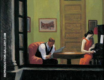 Room in New York 1932 By Edward Hopper Replica Paintings on Canvas - Reproduction Gallery