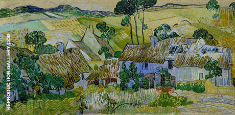 Reproduction of Farms near Auvers 1890 by Vincent van Gogh | Oil Painting Replica On CanvasReproduction Gallery