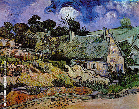 Houses with Thatched Roofs Cordeville 1890 By Vincent van Gogh