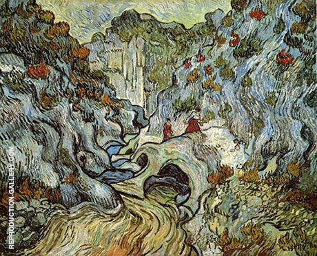 The ravine of the Peyroulets 1889 By Vincent van Gogh