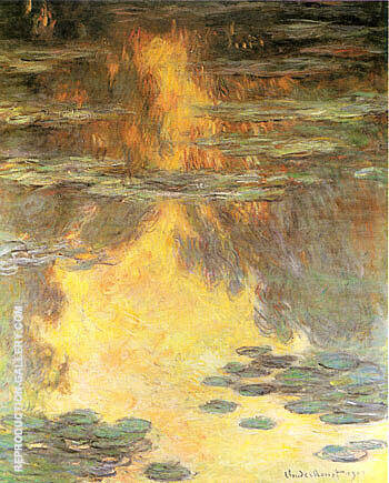 Water Lilies Water Landscape 1907 By Claude Monet - Oil Paintings & Art Reproductions - Reproduction Gallery
