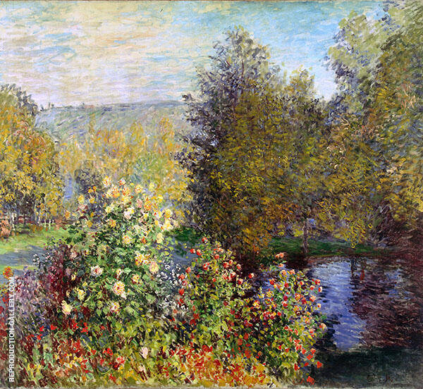 The Corner of the Garden at Montgeron 1876 By Claude Monet