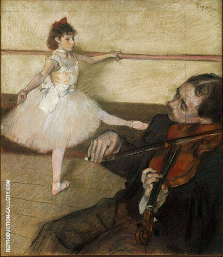 The Dance Lesson circa 1879 By Edgar Degas