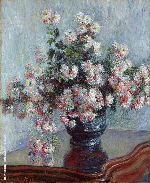 Reproduction of Chrysanthemums 1882 by Claude Monet | Oil Painting Replica On CanvasReproduction Gallery