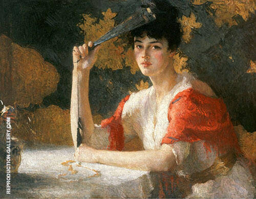 Red and Gold 1915 By Frank Weston Benson Replica Paintings on Canvas - Reproduction Gallery