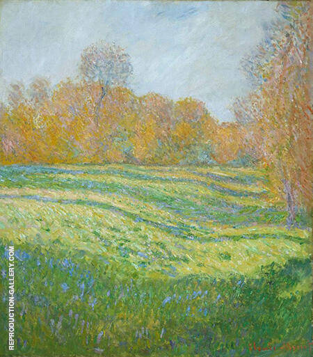 Meadow at Giverny 1886 By Claude Monet