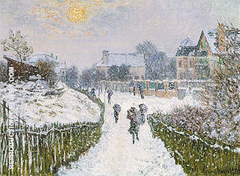 Reproduction of Boulevard St Denis Argentueil in Winter 1975 by Claude Monet | Oil Painting Replica On CanvasReproduction Gallery