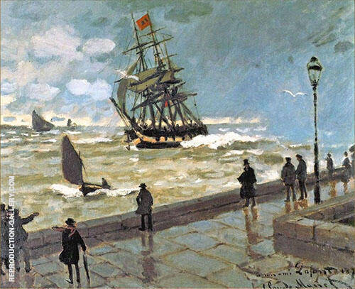 The Jetty at Le Havre 1870 Painting By Claude Monet - Reproduction Gallery