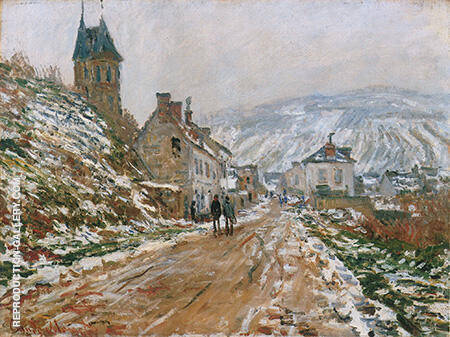 Road to Vetheuil Winter 1879 Painting By Claude Monet