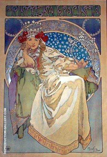 Princezna Hyancinta Painting By Alphonse Mucha - Reproduction Gallery