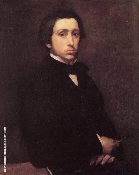 self-portrait 1854 By Edgar Degas