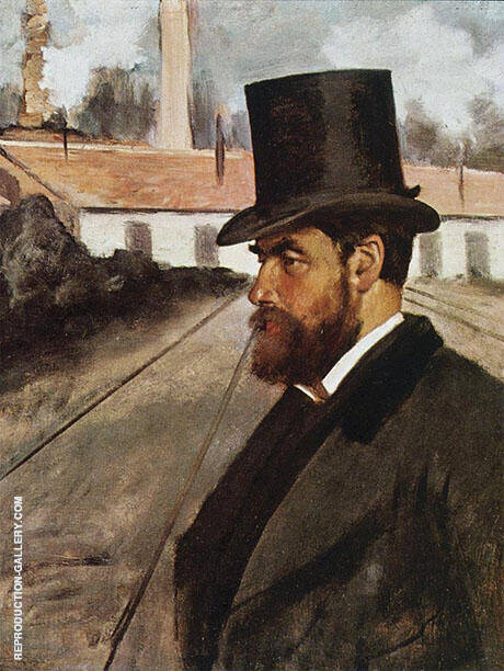 Henri Rouart in Front of His Factory 1875 By Edgar Degas