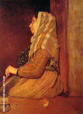 Roman Beggar Woman 1857 By Edgar Degas