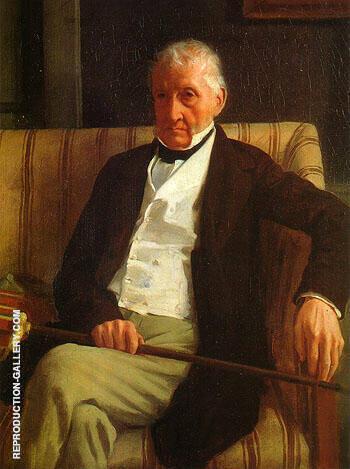 Portrait of Hilaire 1857 By Edgar Degas