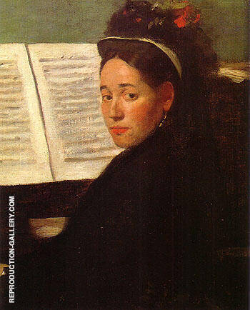 Marie Dihau at the Piano 1869 By Edgar Degas Replica Paintings on Canvas - Reproduction Gallery