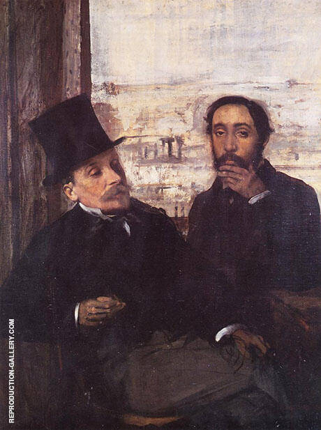 The Artist and His Friend Evariste de Valernes 1865 By Edgar Degas