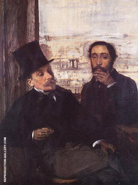 The Artist and His Friend Evariste de Valernes 1865 By Edgar Degas
