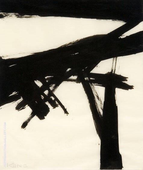 Initiale 2959 By Franz Kline Replica Paintings on Canvas - Reproduction Gallery