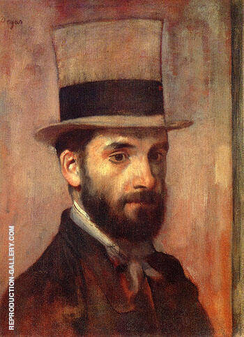 Portrait of Leon Bonnat By Edgar Degas - Oil Paintings & Art Reproductions - Reproduction Gallery