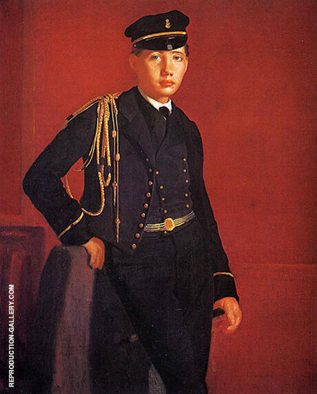 Reproduction of Achille De Gas in the Uniform of a Cadet by Edgar Degas | Oil Painting Replica On CanvasReproduction Gallery