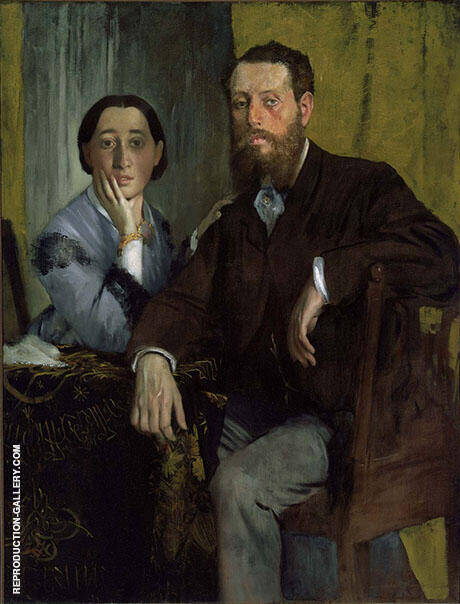 Edmondo and Therese Morbilli 1865 By Edgar Degas