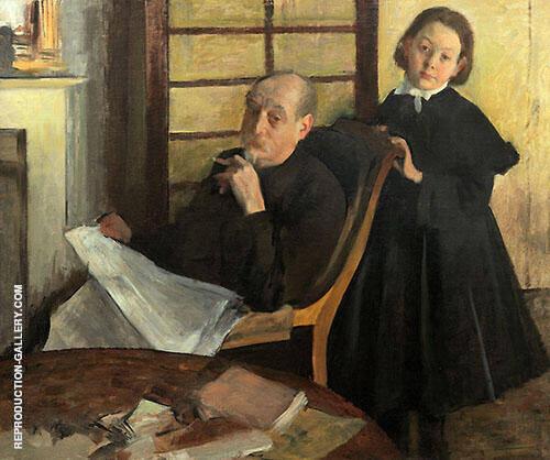 Henri De Gas and his Niece Luicie De Gas 1876 By Edgar Degas