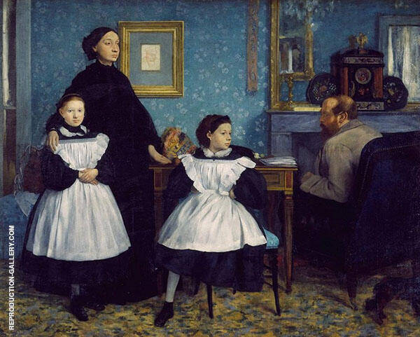 The Bellelli Family Potrait Painting By Edgar Degas - Reproduction Gallery