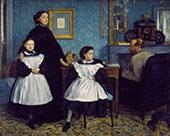 The Bellelli Family Potrait By Edgar Degas
