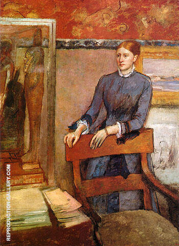 Helene Rouart in her Father's Study 1886 By Edgar Degas