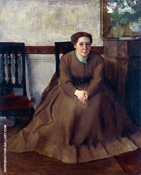 Portrait of Victoria Dubourg By Edgar Degas