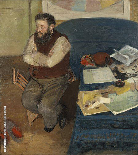 Diego Martelli 1879 By Edgar Degas Replica Paintings on Canvas - Reproduction Gallery